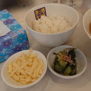 濃菜麺 井の庄 荻窪店「肉の日トッピングチャーシュー29%増量を濃菜つけ麺、トッピングチーズ、野菜大盛で」