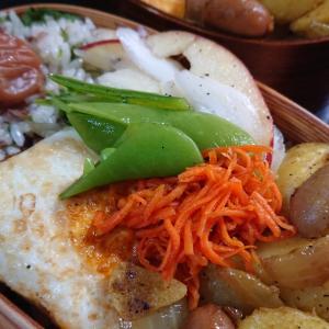 カレージャーマンポテトと焼肉飯弁当二つ