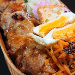 焼肉丼弁当と鯖潮汁と初物ワカシ