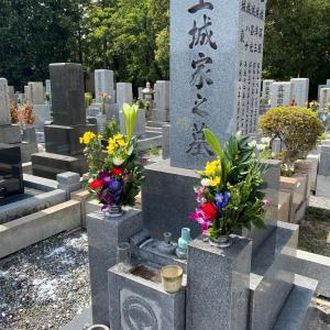 秋分の日  家族でお墓参り