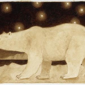 珈琲で絵を描いた 白熊
