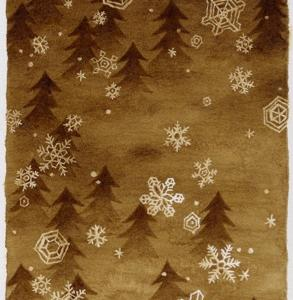 珈琲で絵を描いた  結晶の森  ネコツリー