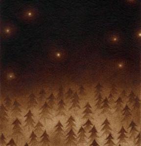 珈琲で絵を描いた  珈琲の森