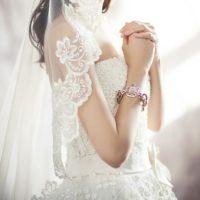 ELIE SAAB シルクのウェディングドレス