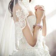レースの美しさでより引き立つ花嫁のマリアベール