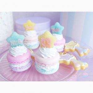 新作☆星のtea cake〜poppin' cream macaron