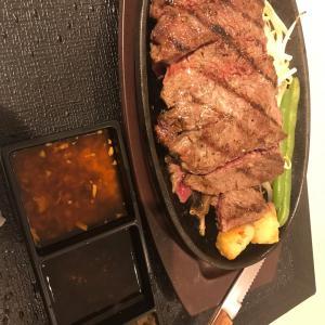 1ポンドのステーキハンバーグ タケル *梅田 阪急三番街