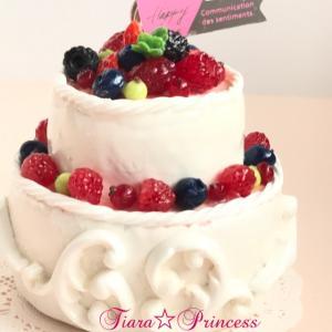 2段デコレーションケーキのメモスタンド♪