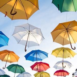 傘をささないイギリス人