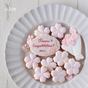 桜咲く♪クッキー、縁取り2種ご紹介