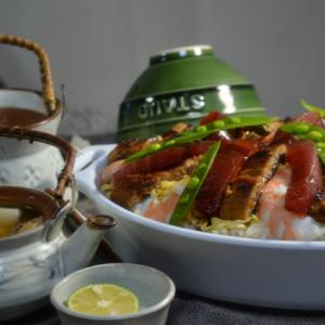 秋の味覚!松茸の土瓶蒸しとちらし寿司の晩ごはん♪