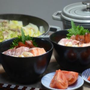 ストウブで「海鮮丼」