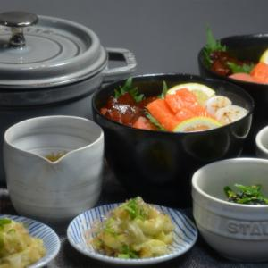 ストウブで「海鮮丼」明太子マヨ巻きがおいしすぎる♡