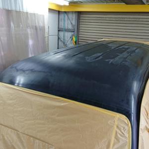 エブリィワゴンスポーツのルーフの塗装準備完了