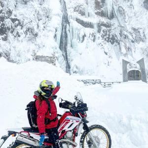 年越し宗谷岬ツーリング 1/3滝も凍る真冬にバイク