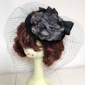 黒薔薇のトーク帽