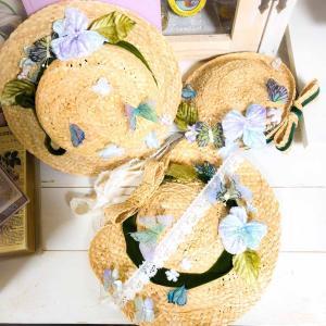 蝶と菫の妖精ラフィア帽子 三種》