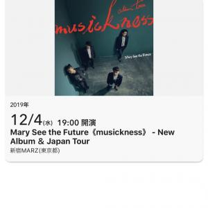 Mary See the Future 先知瑪莉 2019年来日ライブ 東京新宿MARZ