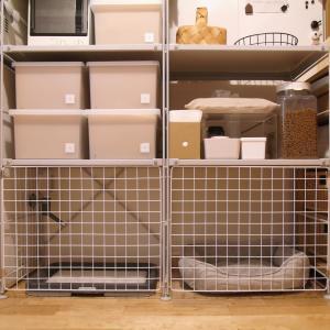 パントリー模様替え!無印良品のシェルフを、愛犬のトイレ&ベッドスペースに!