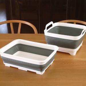 100均の折りたたみバケツ&洗いおけがすごい!収納時のコンパクトさが感動的!