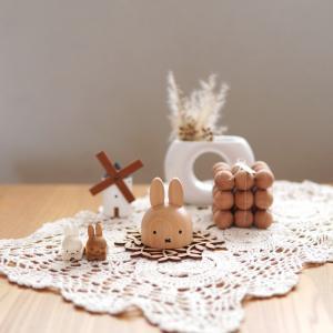 ナチュラルで可愛い【ミッフィー】木の雑貨!ペン立て&箸置きが、インテリア雑貨としても優秀!