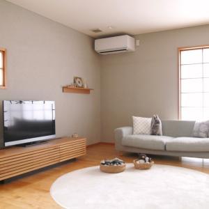 100均雑貨を活用した、夏インテリアのリビング&新しいエアコンの機能に感動!