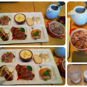 お肉とお魚の6種のプレートランチ in マスターズドリームハウス名古屋店