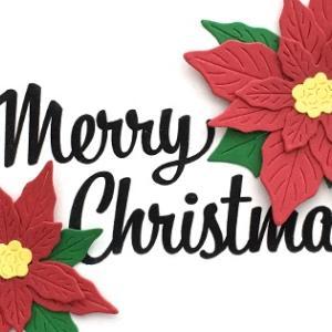 ヒーローアーツのダイでポインセチアのクリスマスカード