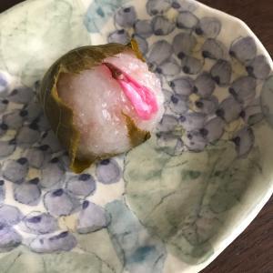 食べ物から春 たねやの桜餅