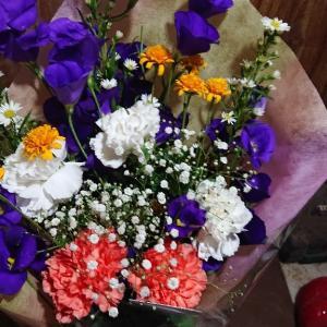 アドにお花を有難うございます(泣)