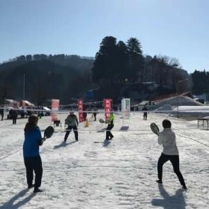 【報告】高柳雪まつりでビーチテニス