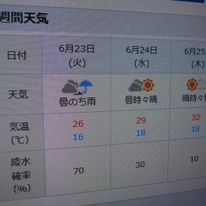 明日の天気が心配