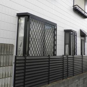台風対策、防犯対策 面格子取付 埼玉県新座市