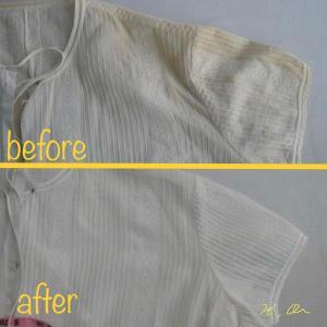 ブラウスやシャツの黄ばみのシミ抜き