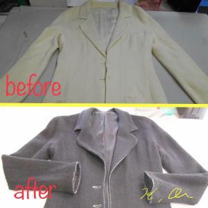 ジャケット コートの染め直し