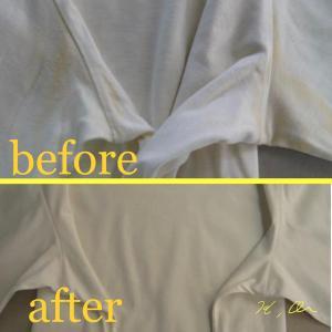セーターの脇の黄ばみのシミ抜き