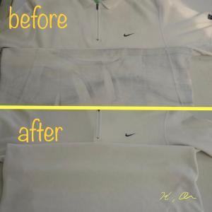 Tシャツに付いたジーンズの色移りのシミ抜き