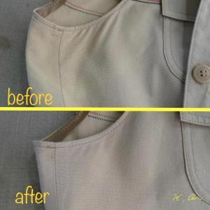 ワンピースのシミ抜きと脇の変色の修正