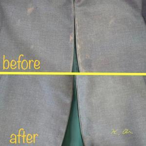 ジャケットの脱色の修正と染め直し