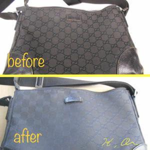 【GUCCI】グッチのバッグの色剥げの修正とクリーニング