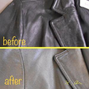 革ジャンパーのクリーニングとカビの除去