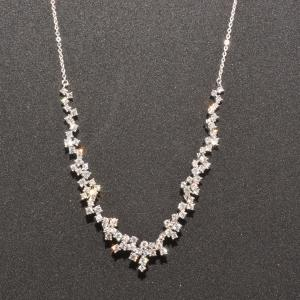 K18WGダイヤモンドネックレス1.55ct