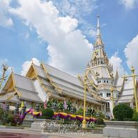 タイ王国バンコク近郊チャチュンサオ県にある美しい寺院「ワット・ソートーン」
