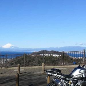 三浦半島ツーリング(今日の富士山)