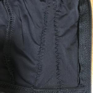 裾(すそ)をミシンでつめたaptの格安ビブタイツ感想