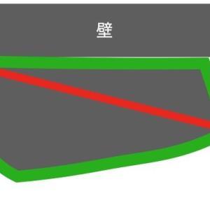 前後輪外す輪行袋の一番長いところを測る