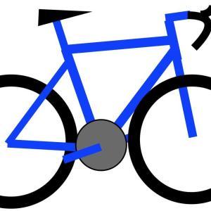 直進性の悪そうなロードバイク・・・