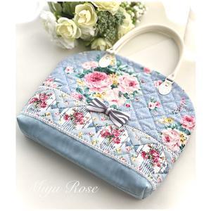 薔薇のラウンド型バッグ