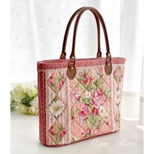 ピンクの薔薇トートバッグ完成