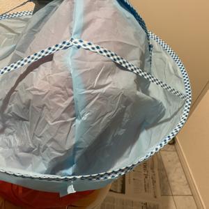 巣ごもり中の散髪・毛染めに「キャンドゥ」ヘアキャッチャーが便利♪と、毛染め液も落ちたハイホーム♪